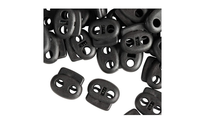 Cord Locks 200 Pack Lace Locks Double Hole Toggles Cylinder