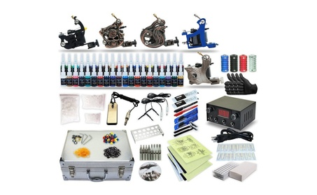 Complete Tattoo Kit 5 machine Gun 40 Color Inks Power Supply ec5b2735-6615-4232-bc45-7d60a556ae7e