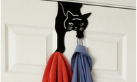 Evelots Over-the-Door Double Cat Hook Hanger