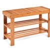 3 Tier Bamboo Shoe Rack Bench Storage Shelf Organizer Entryway