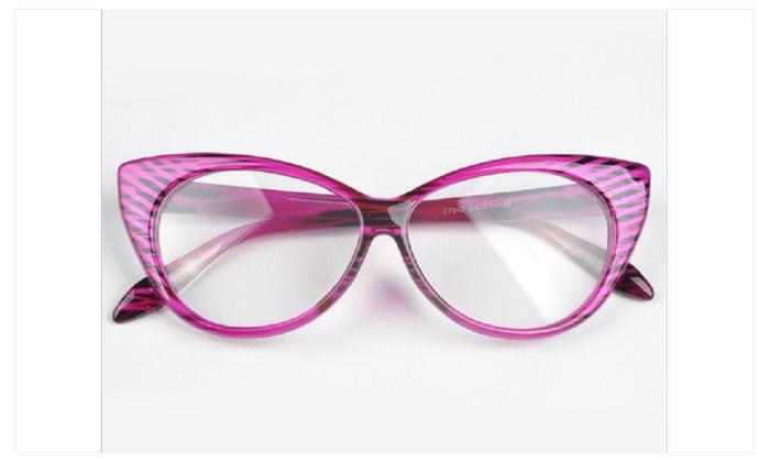 Stylish Women Cat's Eye Sunglasse Plain Eye Frame Spectacle