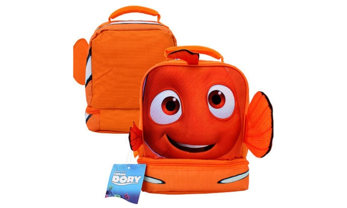 """Finding Dory Drop Bottom Lunch Bag with Fins- 10""""H"""