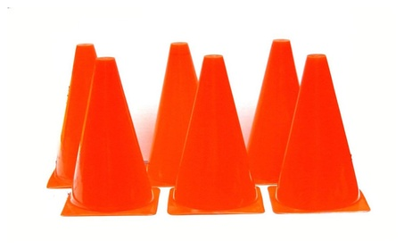 U.S. Coach Supply 9 Inch Sports Training Cones (Red) 42908189-12e4-4396-a404-03aaf1f43649