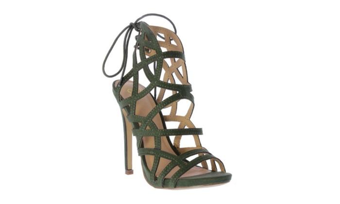 Simply U.B.U. Shoes Women's Giselle Heels, Olive