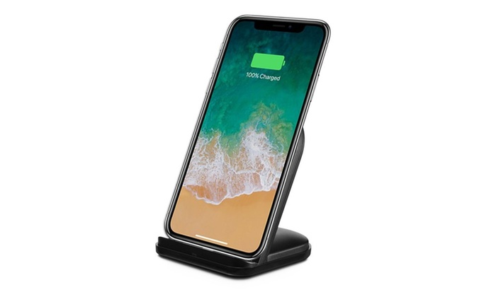 up to 83 off on qi wireless phone charging stand groupon goods. Black Bedroom Furniture Sets. Home Design Ideas