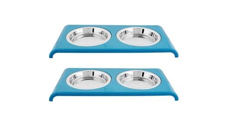 Set of 2 Color Splash - Cat Saucer Diner - 12 oz - 1.5 Cups 2b290e54-1914-48b7-8a46-68451c66a319