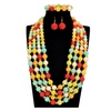 African Beads Choker Statement Wedding Jewelry Set for Women