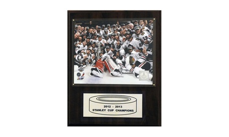 "NHL 12""x15"" Chicago Blackhawks 2012-2013 Stanley Cup Celebration Plaque 64c743b2-d77f-46e3-a059-af3618df1ccd"