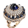 Blue Sapphire 18K Gold Plated Turkish Ring