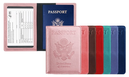 RFID Multi-function Passport Holder with CDC Vaccination Card Slot Was: $19.99 Now: $8.99