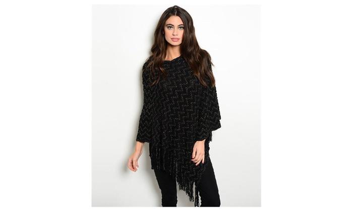 Black Poncho cape top sweater coat