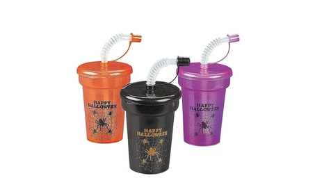 New Halloween Mini Cups with Lids & Straws (12 Pack) d9e7ec1d-fb43-4721-a84a-9bfb3ae822d9