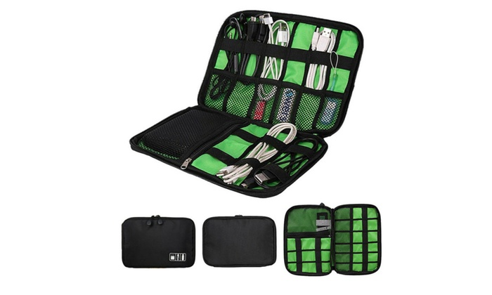 Travel Electronic Accessories Cable Organizer Bag Portable Case ...