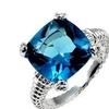 J Goodin Aqua Cushion Engagement Ring Size 5 To 10
