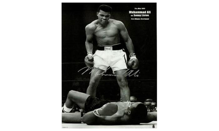 Allautograph.com: Muhammad Ali Hand Signed Poster