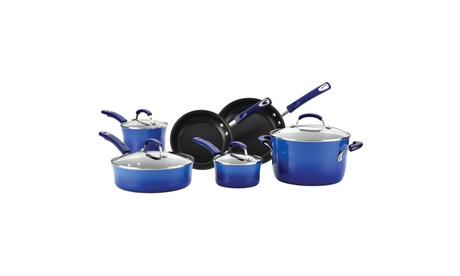 Rachael Ray Hard Enamel Nonstick 10pc Cookware Set 64eeffa7-d2a0-4cc8-aecb-ebaabfd69853