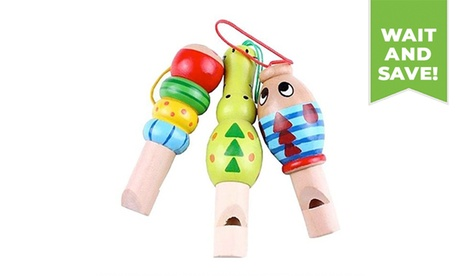 1PC Wooden Animal Whistle/Bird Call Early Educational Tool