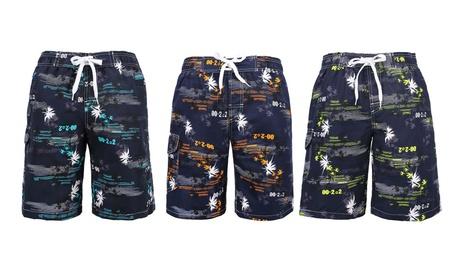 Zenco Men's Casual Beachwear Board Shorts Swim trunks