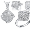 Silver Plated Cubic Zirconia Necklaces & Pendants Earrings Ring