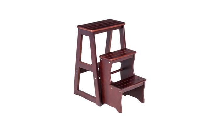 Super Folding Wood Step Stool Ladder Chair Bench Seat Utility Home Uwap Interior Chair Design Uwaporg