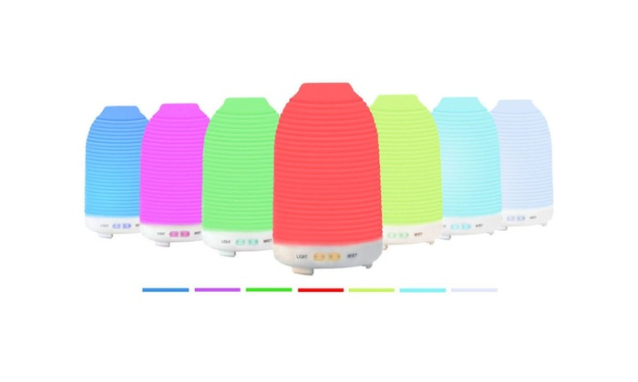 Aroma Humidifier with 7 Color Changing LED Lamps - 120ml