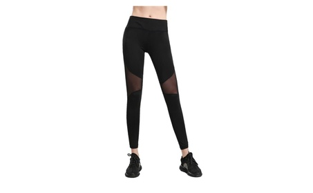 SSNB Women's Sexy Activewear Mesh Leggings Yoga Stretch Pants bc3b5496-da10-4d51-86c8-ca33911e27b9