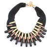 Trendy Chain Twisted Statement Pendant Necklace for Women