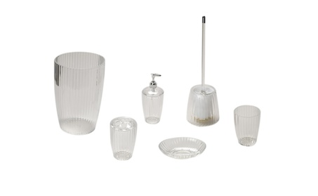 Carnation Home Fashion 5 Piece Acrylic Bath Accessory Set 5506568d-4ca0-4b6d-a018-cd97fd110af9