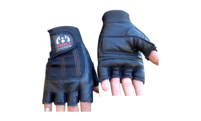 Leather Weight Lifting Gloves Padded Gym Body Building Fitness