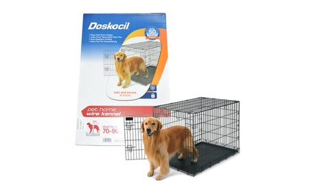 "Doskocil Collapsible Dog Wire Metal Kennel/Crate 42.1 x 27.5 x 30.5"" 6fca9126-507d-49d8-afb0-44211c840725"