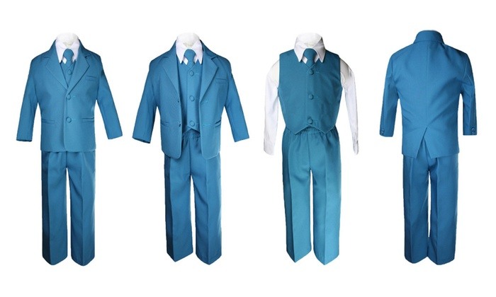 Unotux: New Born Baby Boy Teen Formal Party Green Teal Tuxedo Suit Sm-14