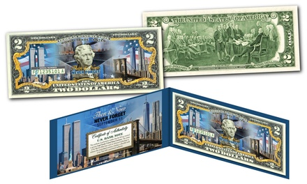 World Trade Center Then & Now Commemorative $2 Bill