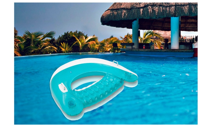 ... Relaxed Sit On Float Lounger Backrest Inflatable Pool Lounge ...
