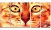 Feline Stare- Animal Metal Wall Art