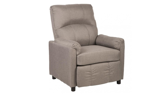 Single Arm Recliner Chair Sofa Fabric Reclining Couch Accent Chair