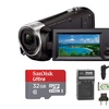 Sony HDRCX440 Handycam HD Camcorder with 32GB Micro SD Card and Battery/Charger