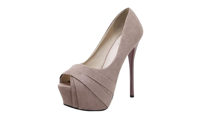 Women's Simple Peep Toe High Heels