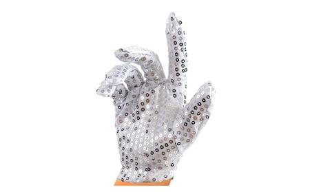 Silver Sequin Glove; Double Sided 1 Pcs - sliver 9ffce351-54a4-4b5c-99ed-1e37b70bcb8b