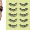 Long and Thick Reusable False Eyelashes (5 Pairs)