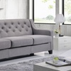 Arcadia Fabric-Upholstered Tufted Three-Seater Sofa