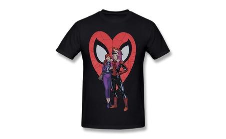 Men's Spider-Man Marvel Comics T-Shirt Black 40233908-e0b8-49d6-a658-f7df19b85951