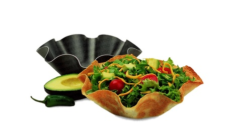 Perfect Bake & Serve Tortilla Bowl Pan 4pc Set 50648363-d910-4ff3-93d6-3c02341715ce