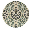 Dazzle Bloomed Florals Round Indoor Area Rug