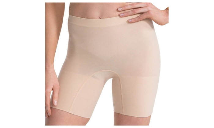 Spanx Power Shorts L 2744 Mid-Thigh Seamless All-Day Comfort Nude size
