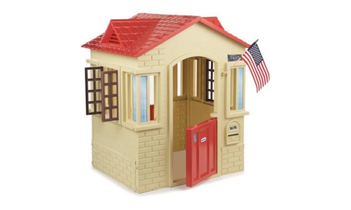 Pleasant Little Tikes Cape Cottage Playhouse Tan Download Free Architecture Designs Scobabritishbridgeorg