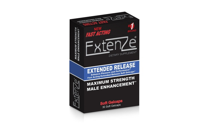 Extenze Extended Release Soft Gel 30ct Groupon