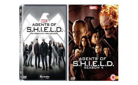 Agents Of S.H.I.E.L.D Season 3 & Season 4 Complete Box Sets 10 Dvd New 8988bb22-76bc-4744-a22b-62e7f35c62bc
