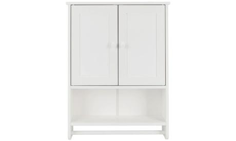 Bathroom Wall Cabinet Medicine Storage Organizer Cabinet W/ Door & Shelf