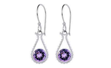 Orchid Jewelry Silver Overlay 2-1/4 Ctw Amethyst Tear-drop Earrings ec42cfa8-51e8-4f75-9e47-5f642d249570