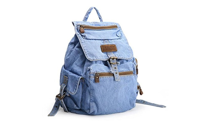 6514b1e1bc1 ... cheapest 8966f 1942e AI-NI-SI Women And Girls Preppy Style Denim  Rucksack Back  outlet store ...